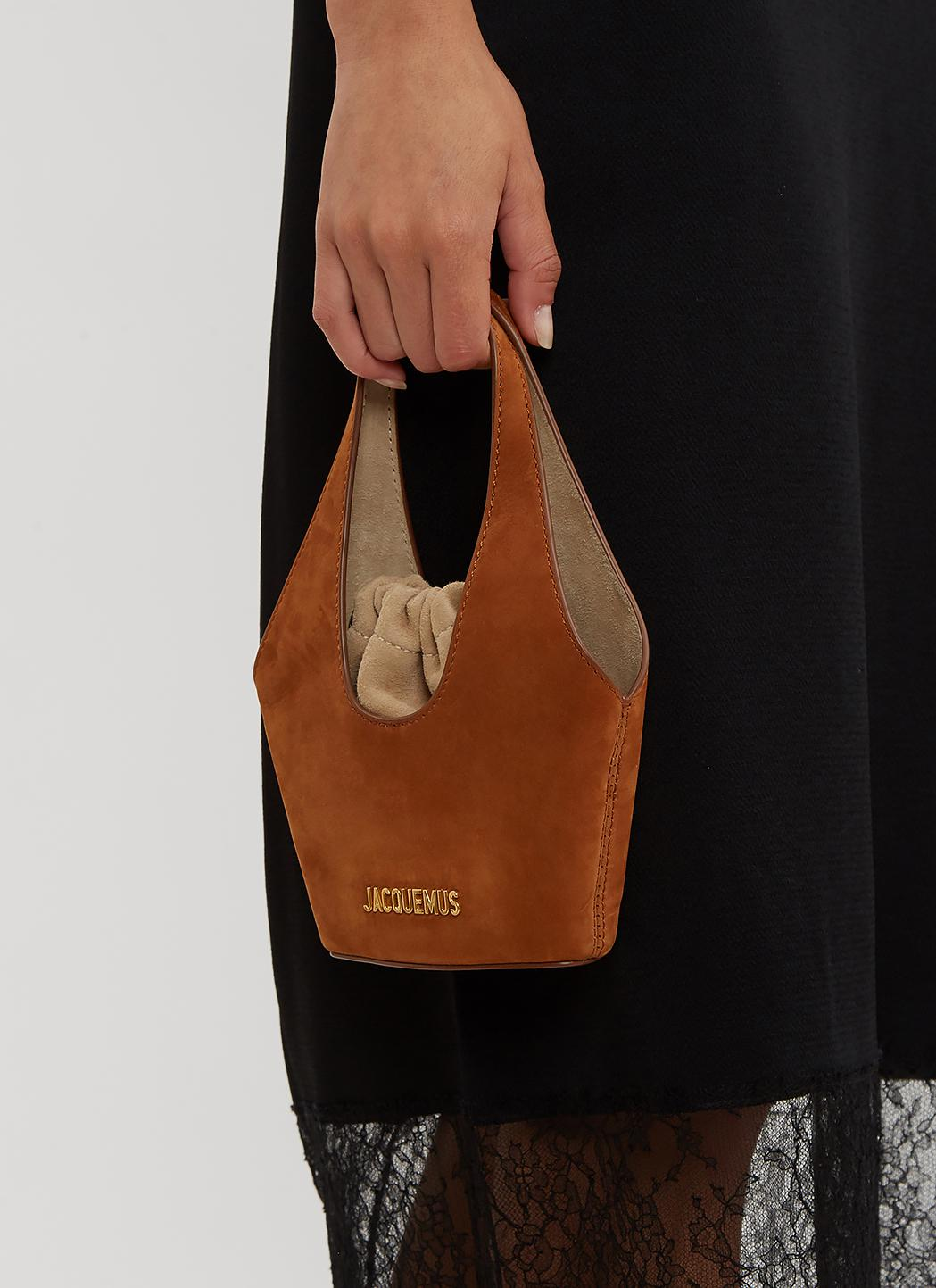 eb7d4226b511 Lyst - Jacquemus Le Cariño Suede Bucket Bag in Brown