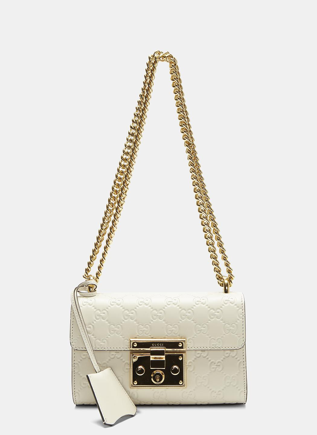 5dc550d1b21c Gucci Padlock Small Shoulder Bag In White in White - Lyst
