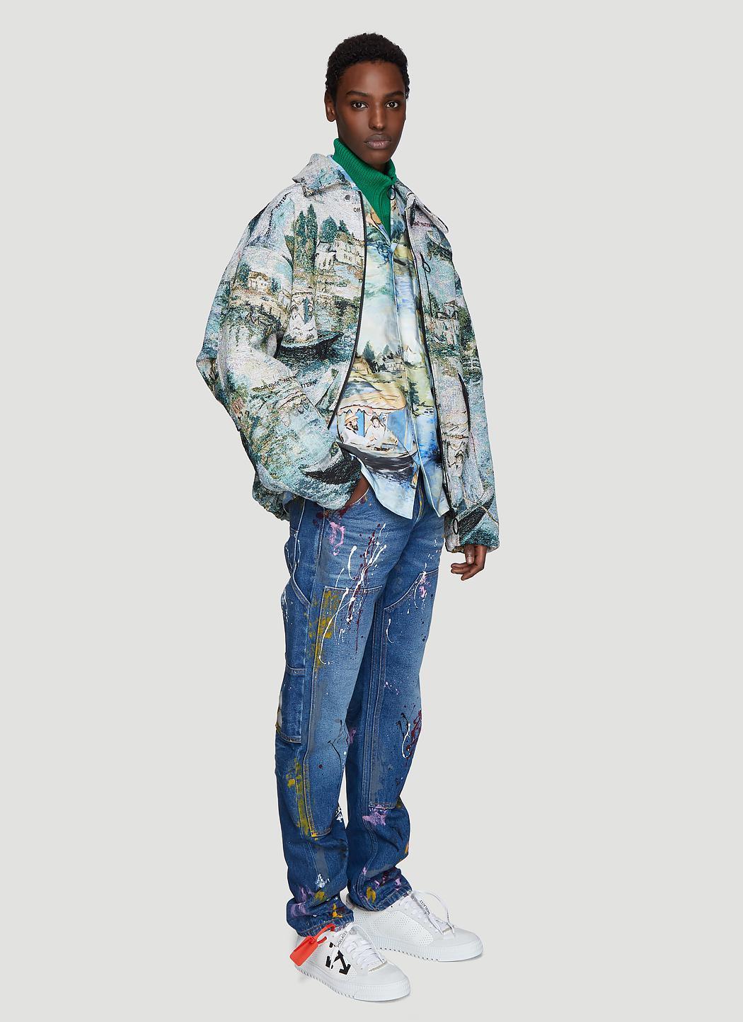b903cc412e2 Off-White c o Virgil Abloh - Carpenter Splatter Jeans In Blue for Men. View  fullscreen