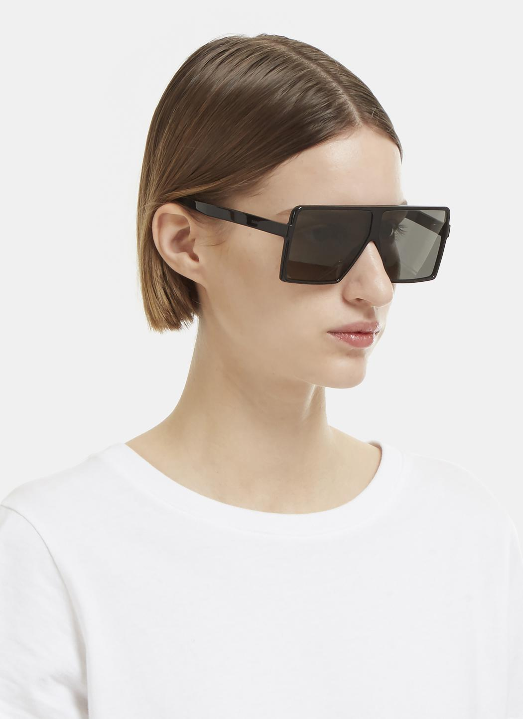 75bf4ae876 Saint Laurent New Wave 183 Betty Small Sunglasses In Black in Black ...