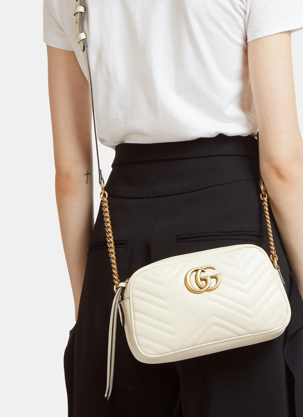 GG Marmont matelassé shoulder bag - Gucci Womens Shoulder