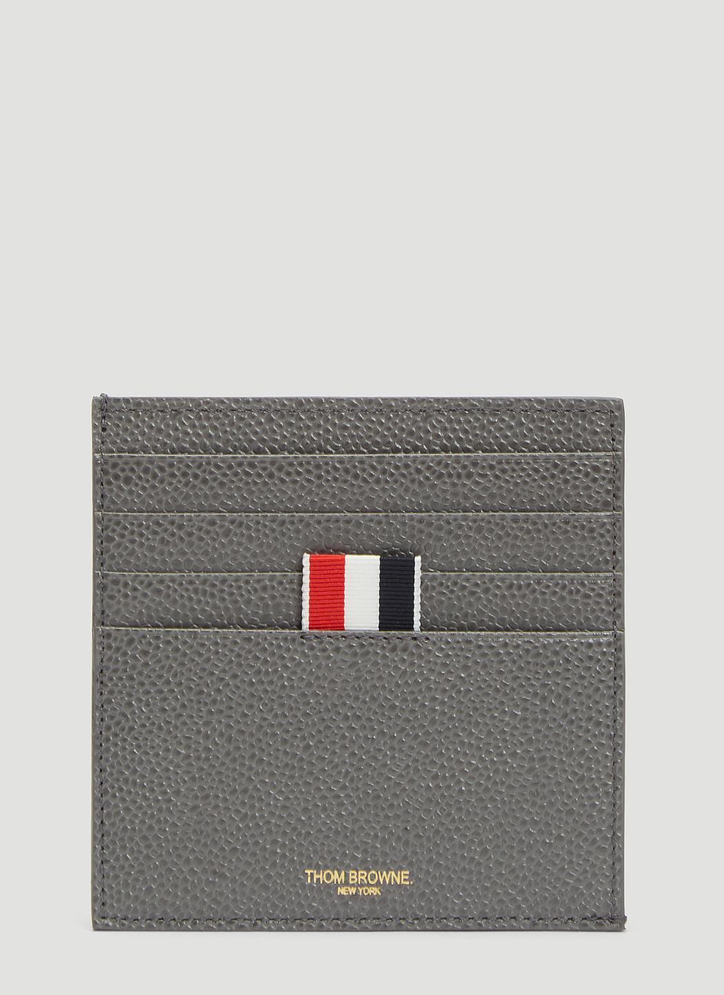 be2970cd126 Lyst - Thom Browne Square Bi-colour Card Holder In Grey in Gray for Men