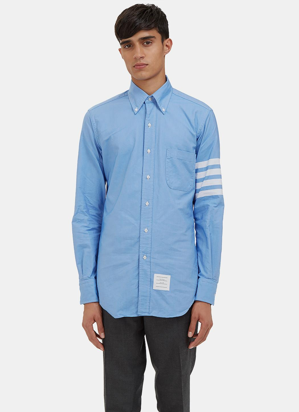 5451c28a661 Lyst - Thom Browne Men s 4 Bar Oxford Shirt In Blue in Blue for Men