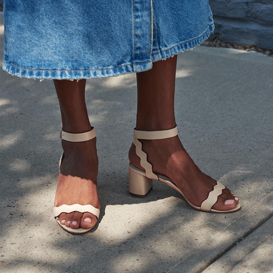 fa5afa806d6 Lyst - Loeffler Randall Emi Block Heel Sandal in Natural