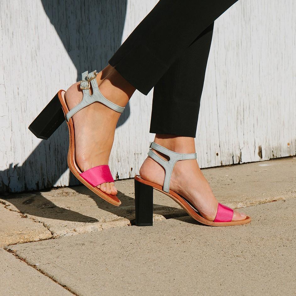 871557a38e99 Lyst - Loeffler Randall Sylvia Double Buckle Sandal in Pink