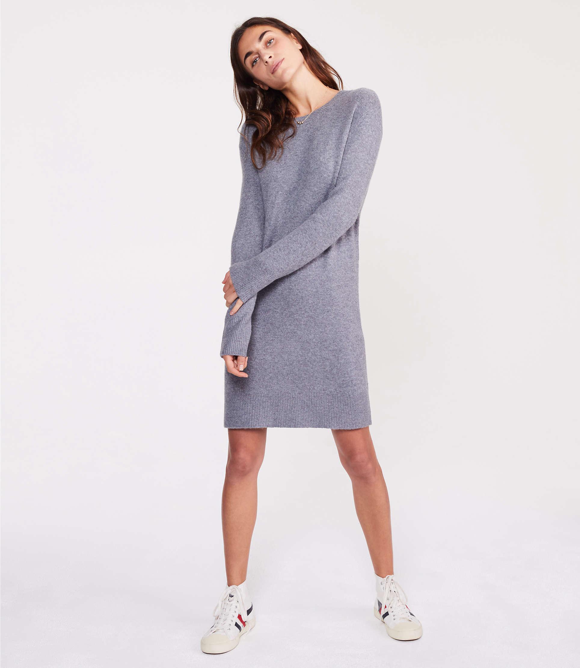 976a7790af2 ... Lou   Grey Sweater Dress - Lyst. View fullscreen