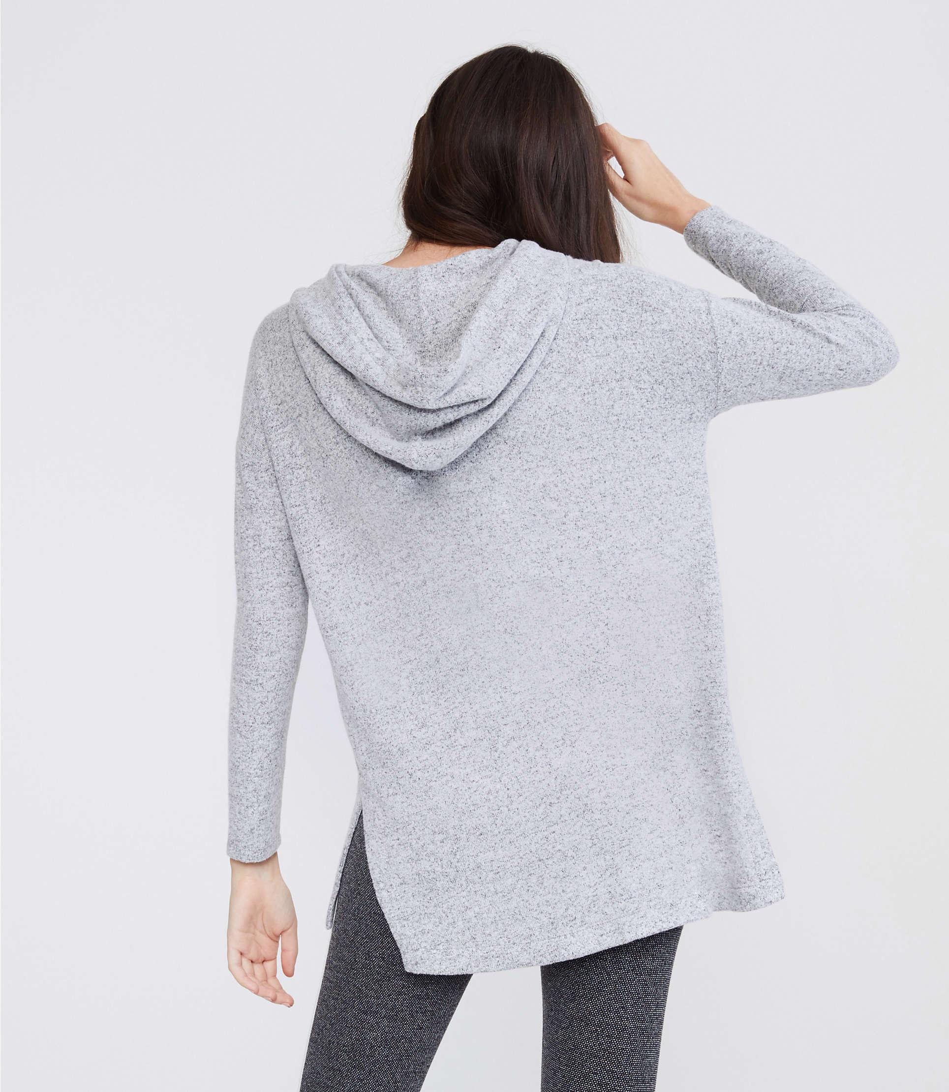 1a60ce24af9bdf Lyst - LOFT Lou & Grey Brushmarl Hoodie Top in Gray