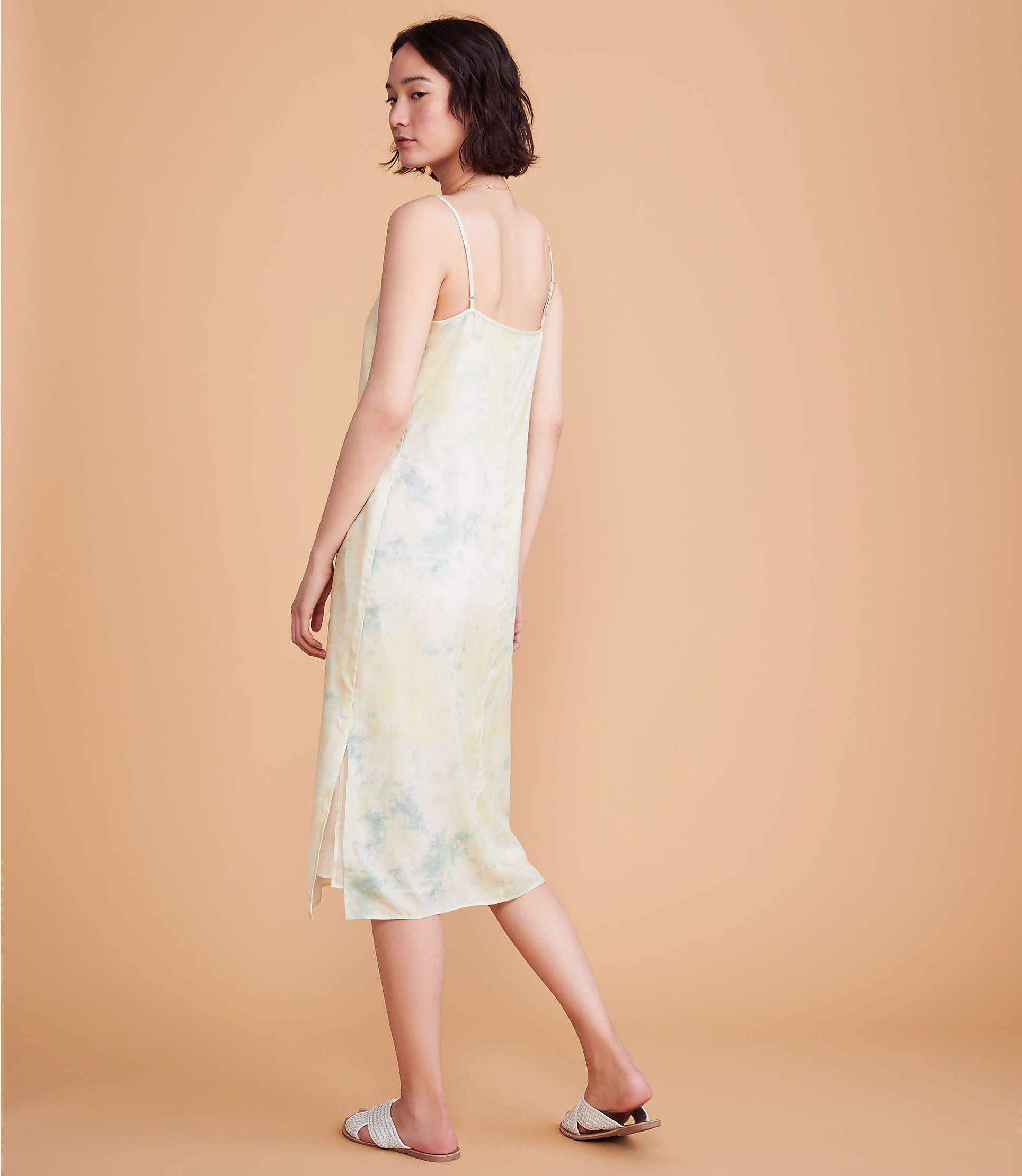 5403a1c018fb ... Lou & Grey Tie Dye Silky Midi Slip Dress - Lyst. View fullscreen