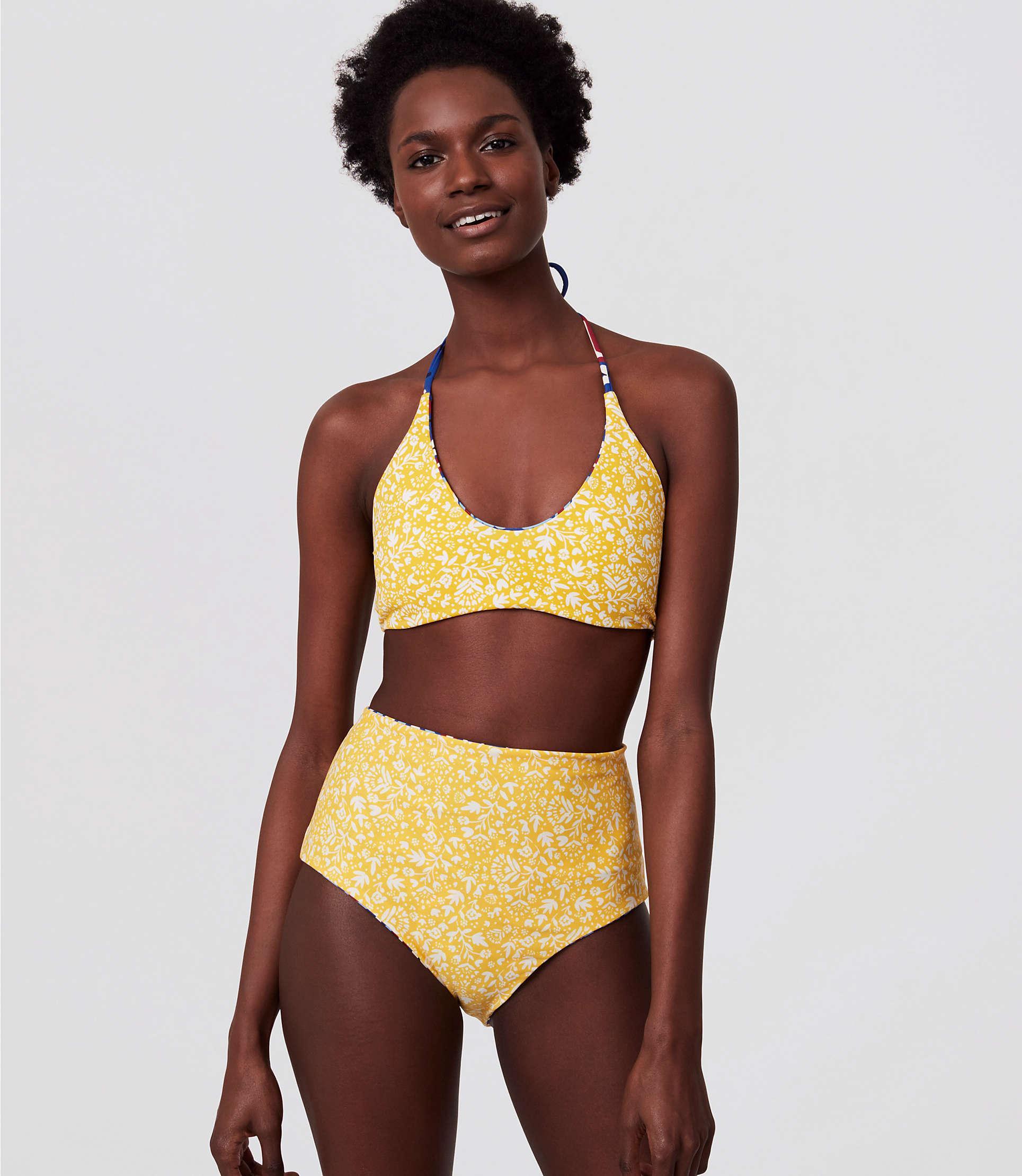 c14d12eec14c2 LOFT Beach Reversible Halter Bikini Top - Lyst