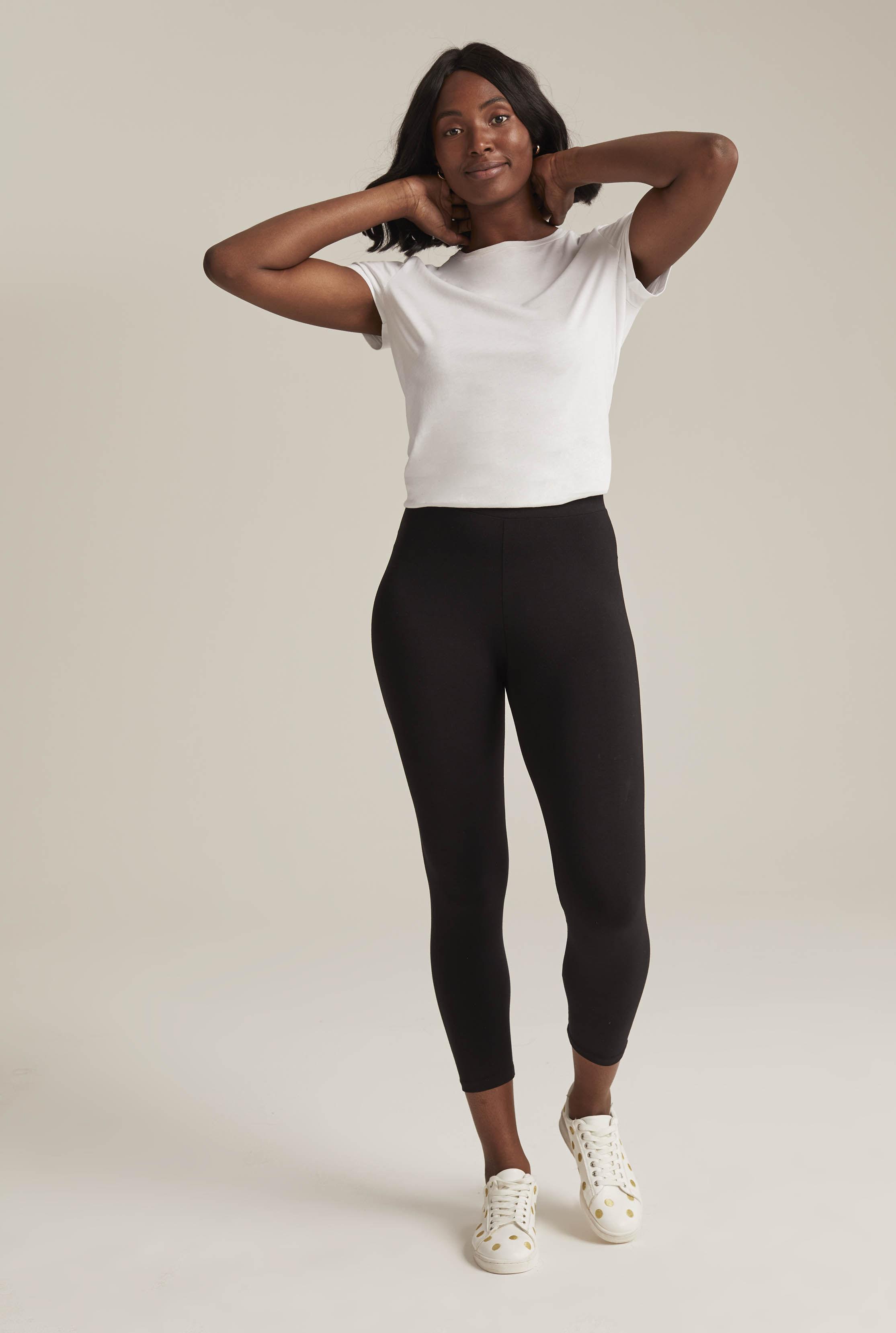 512e136d487300 Long Tall Sally - Black Tall Classic Jersey Legging Crop - Lyst. View  fullscreen
