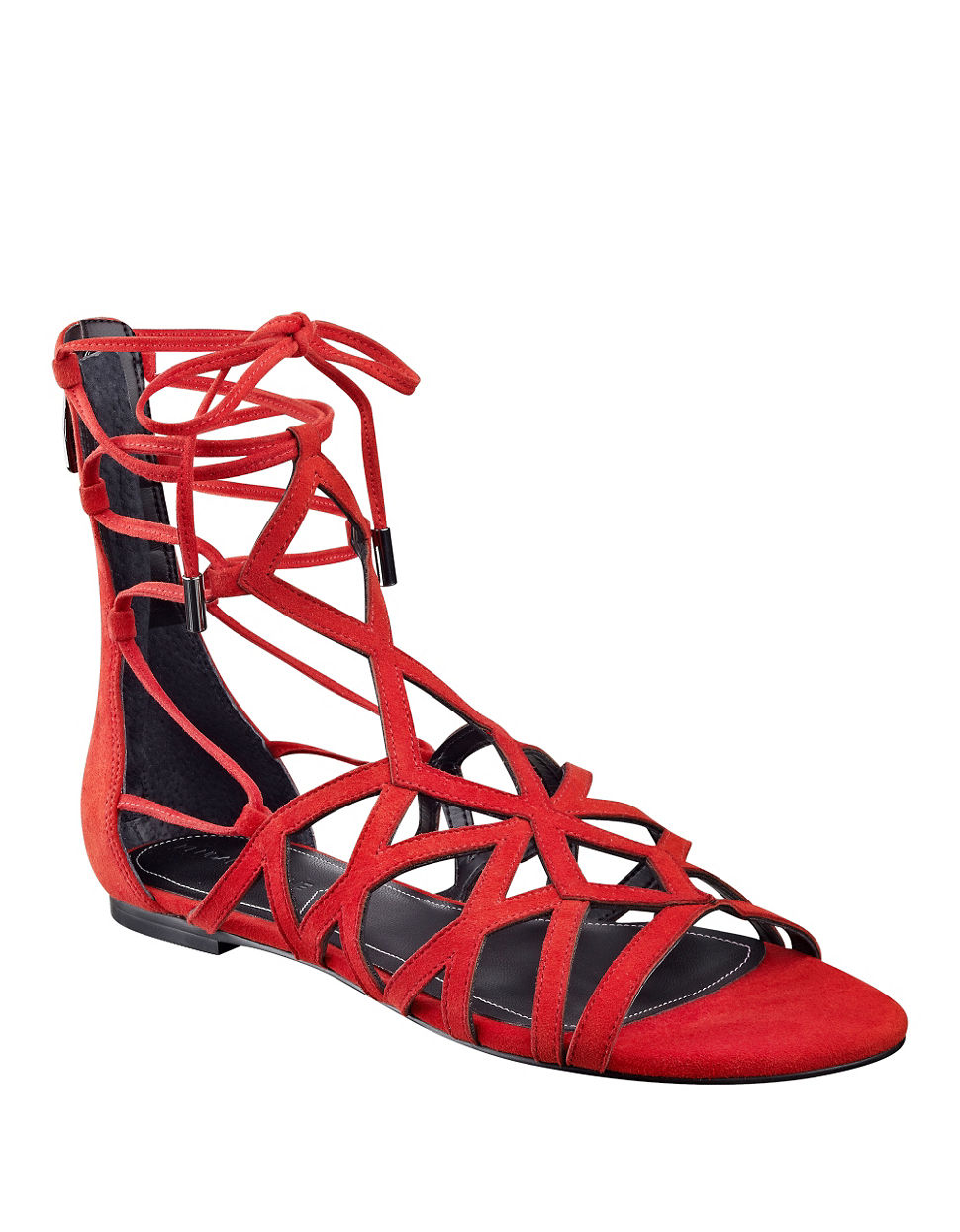 Kendall Kylie Cody Suede Gladiator Sandals In Red Lyst