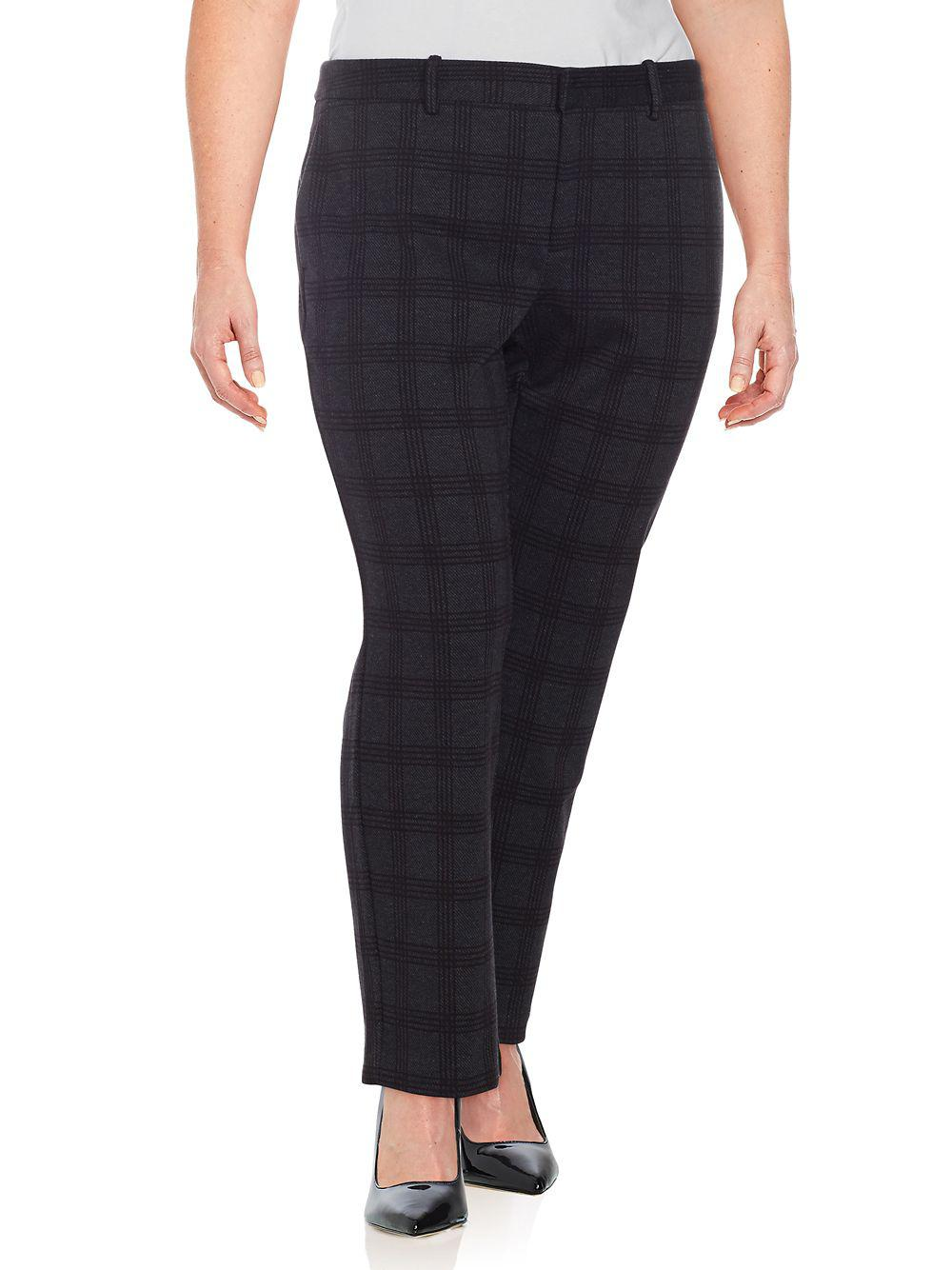 29f2b0d7f81 Lord   Taylor. Women s Plus Kelly Plaid Ponte Ankle Pant