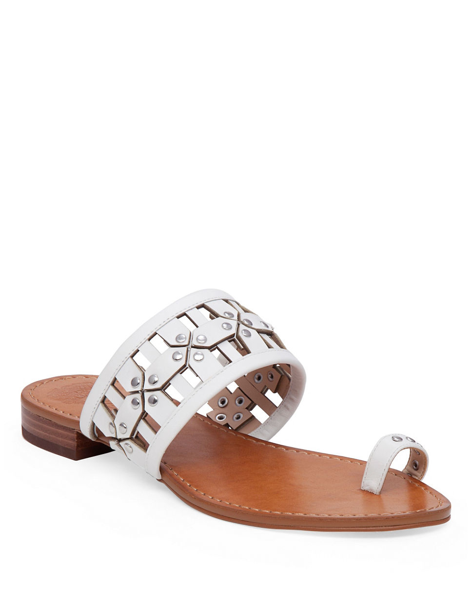 Flat Sandals Leather Toe Ring