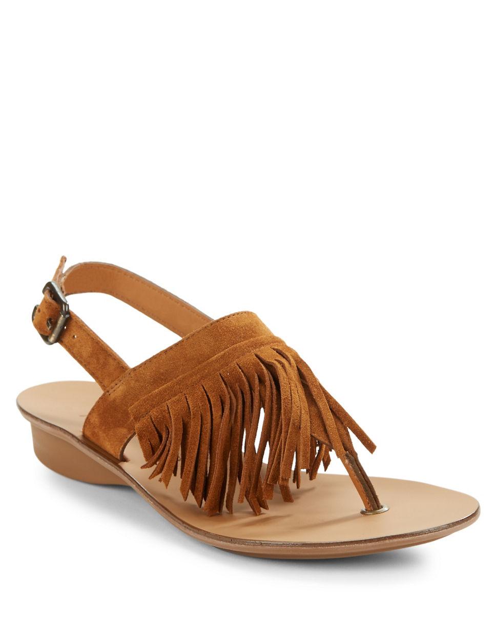 lyst paul green havana suede sandals in brown. Black Bedroom Furniture Sets. Home Design Ideas