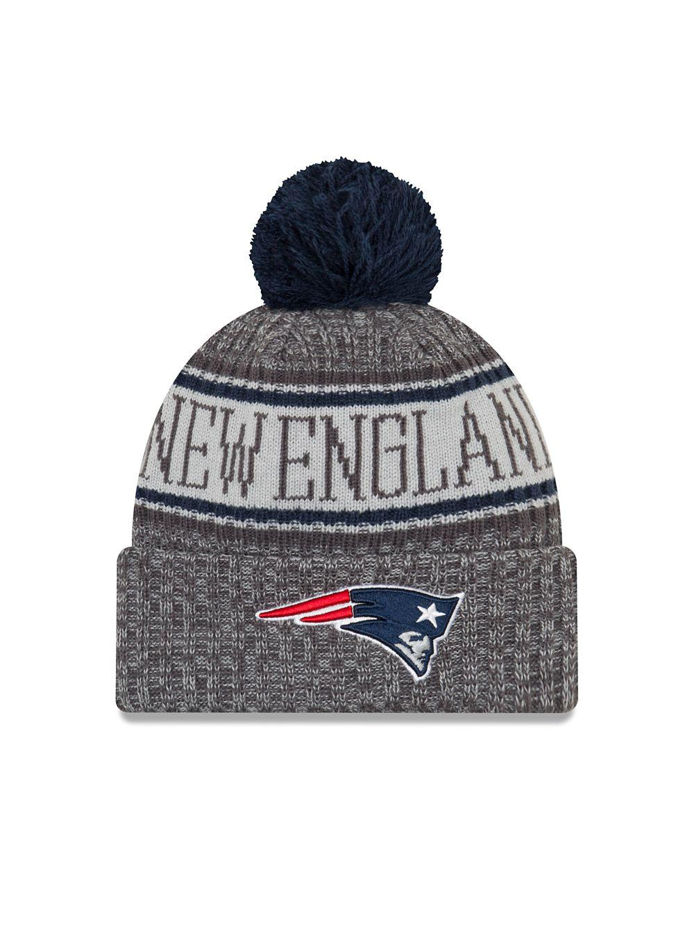 KTZ. Men s Blue Nfl Sideline New England Patriots Cold Weather Sport Knit  Hat acdb8b5e9