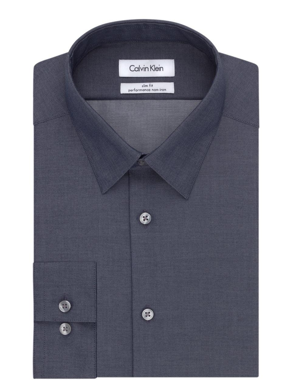 Calvin klein men 39 s big tall classic fit non iron for 20 34 35 dress shirts
