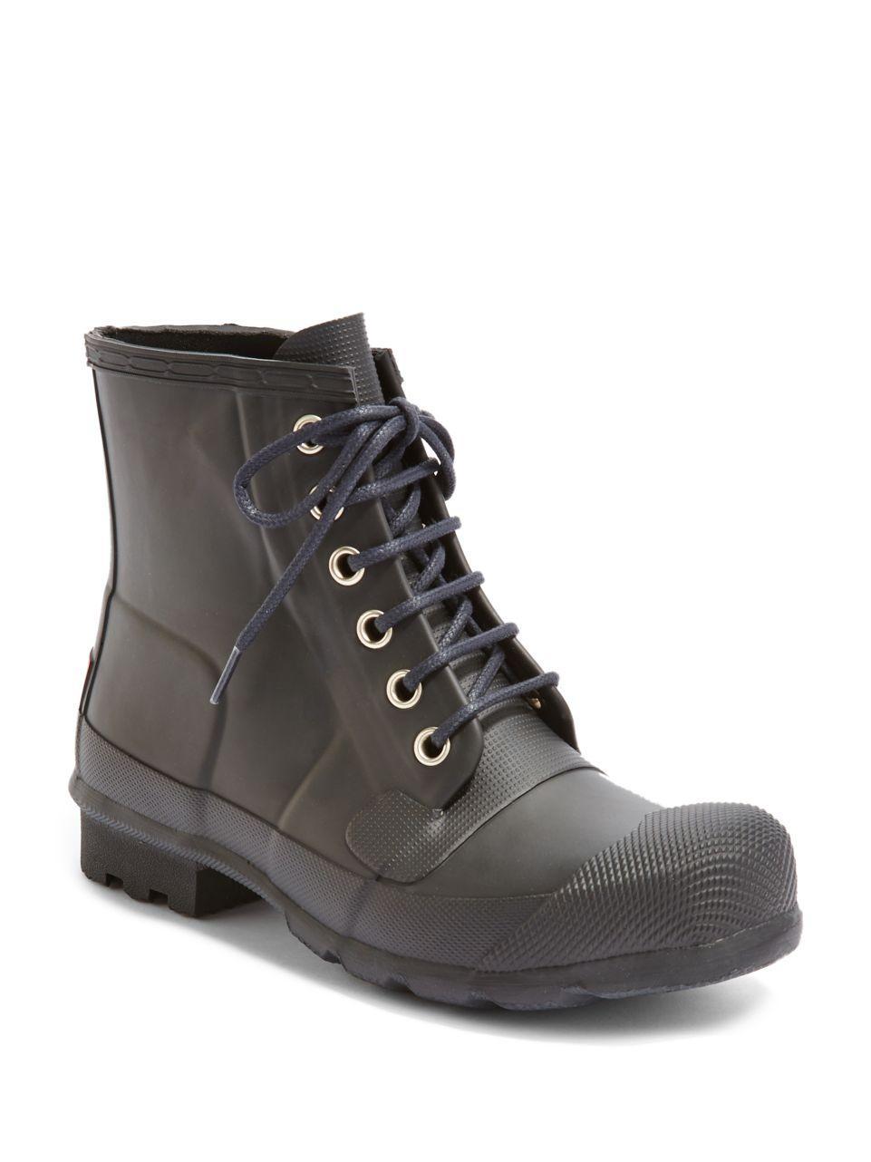 hunter original rubber rain boots in black for men lyst