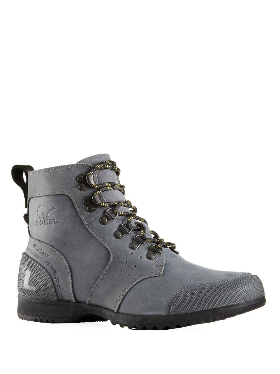 Lyst Sorel Ankeny Mid Hiking Boots In Gray For Men
