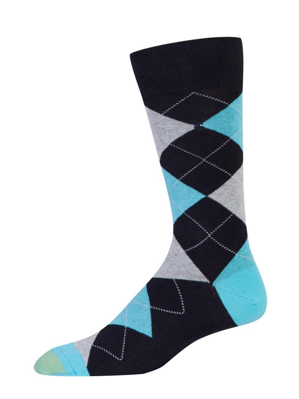 Goldtoe Geometric Pattern Socks in Blue for Men | Lyst