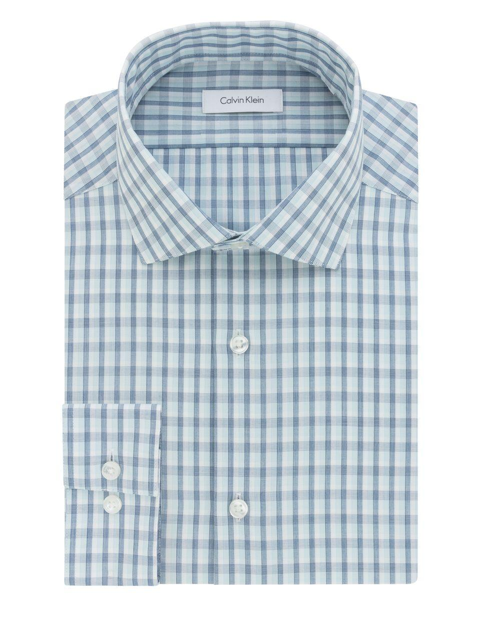 Calvin klein men 39 s steel classic regular fit performance for 20 34 35 dress shirts