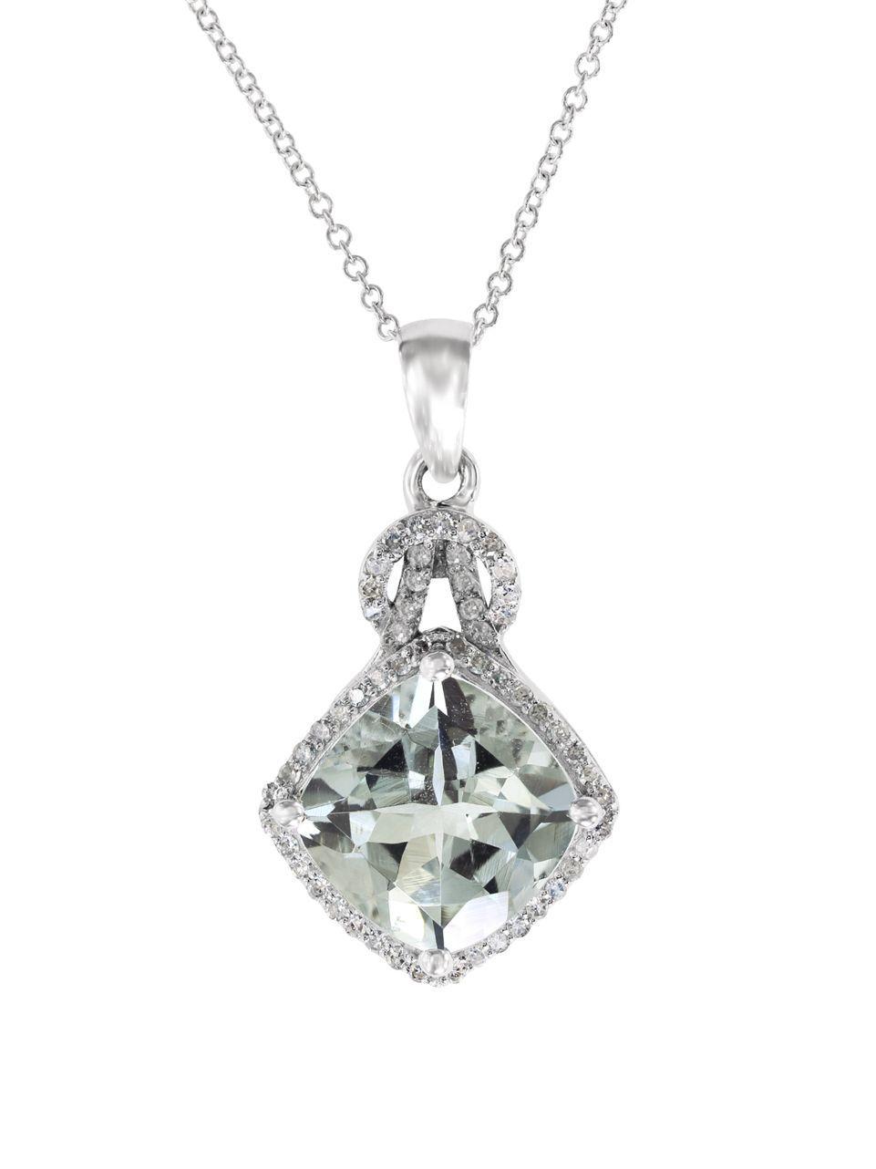 Lyst Effy Aquarius 0 22 Tcw Diamond Aquamarine And 14k