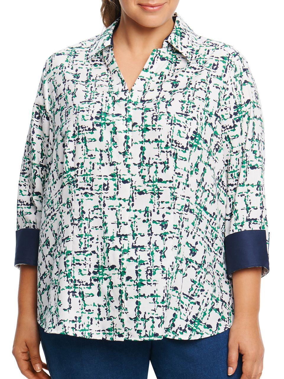 Lyst Foxcroft Printed Cotton Shirt
