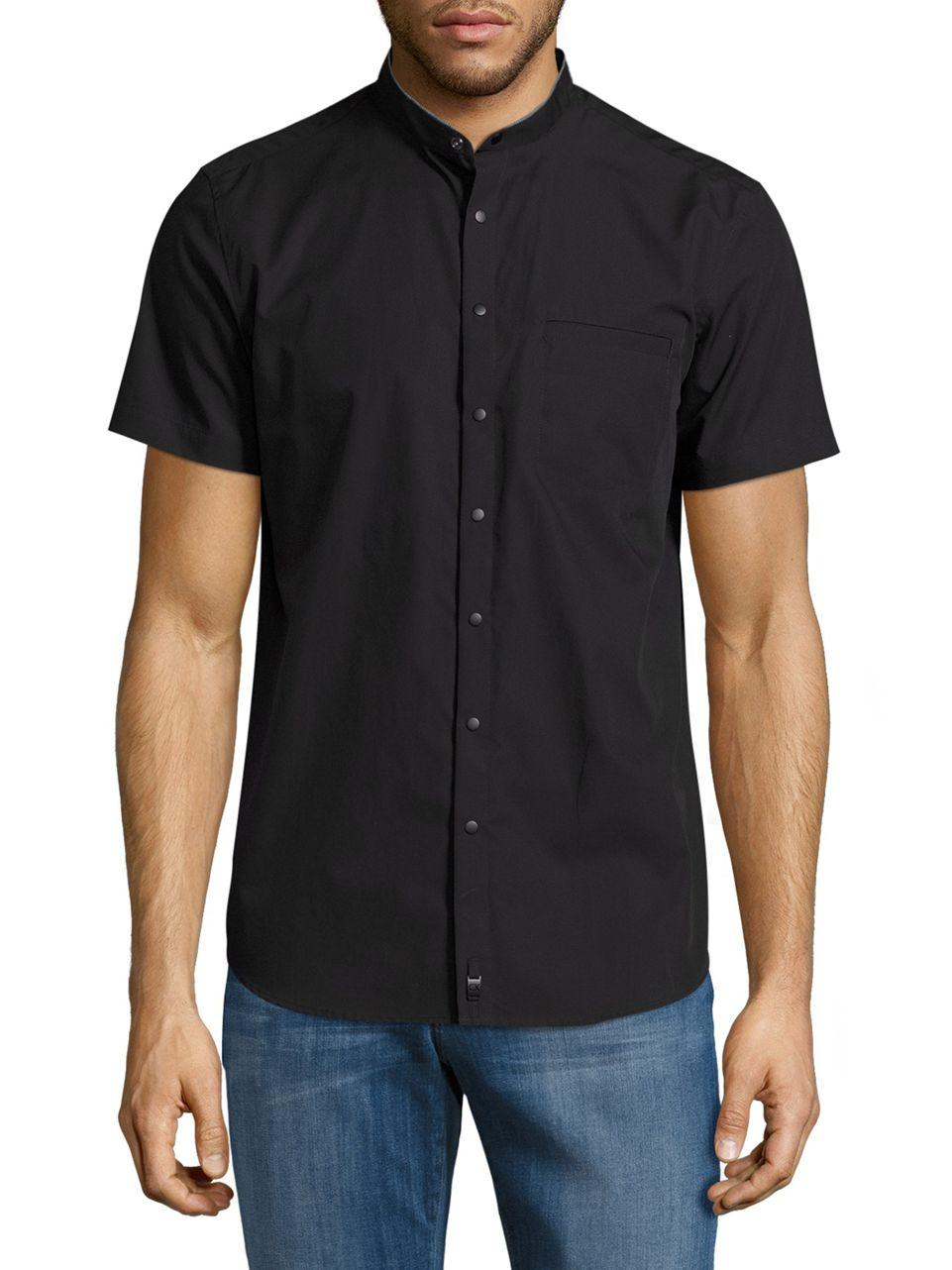 Lyst calvin klein casual button down short sleeve shirt for Mens short sleeve button down casual shirts