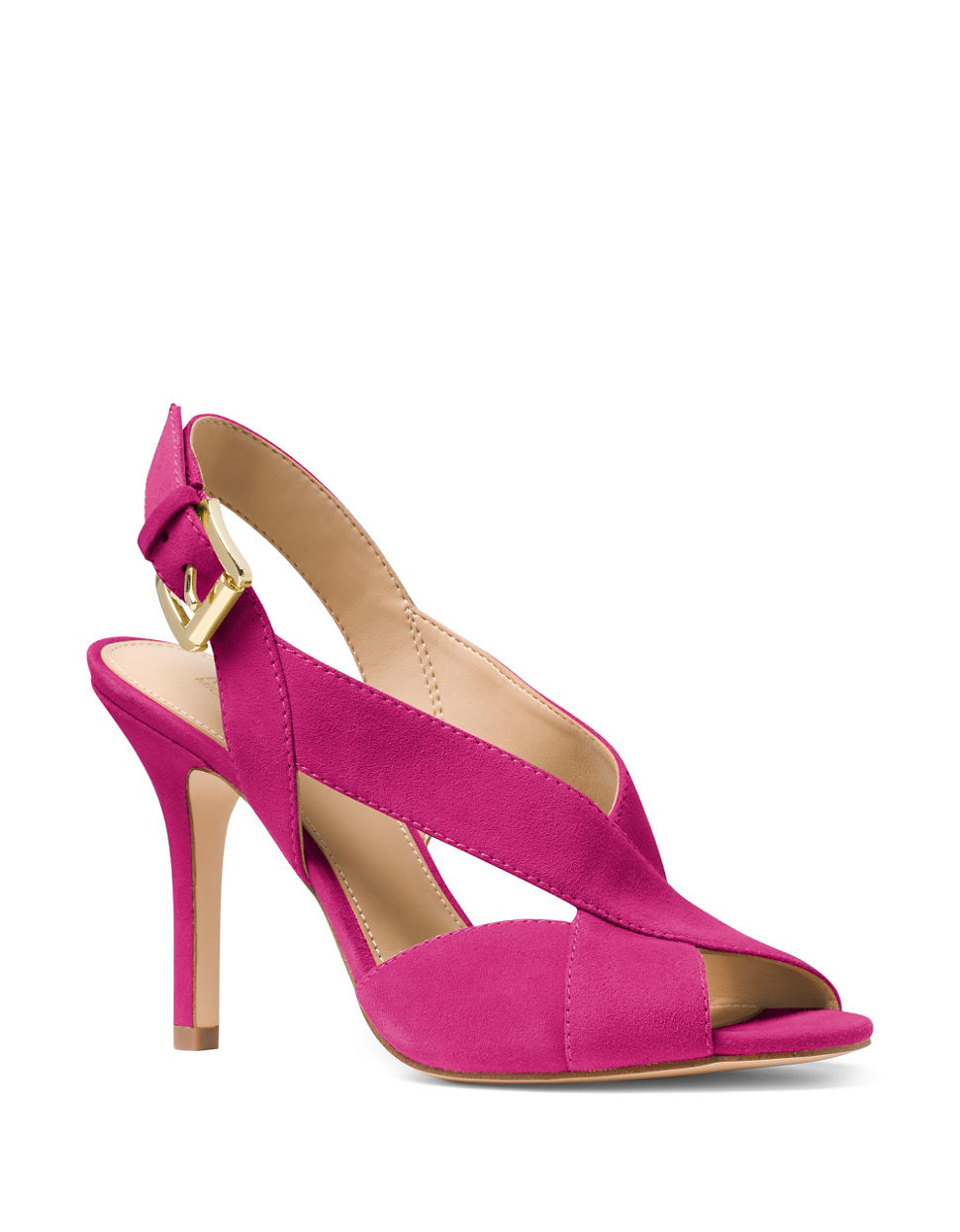 michael michael kors becky suede sandals in pink lyst