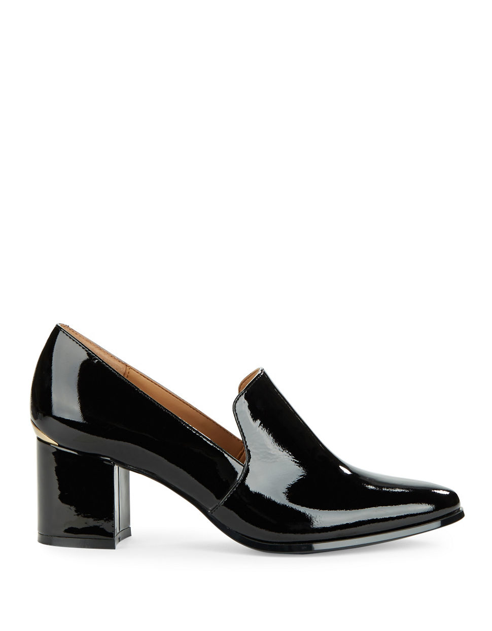 Calvin Klein Faye Patent Leather Loafers In Black Lyst