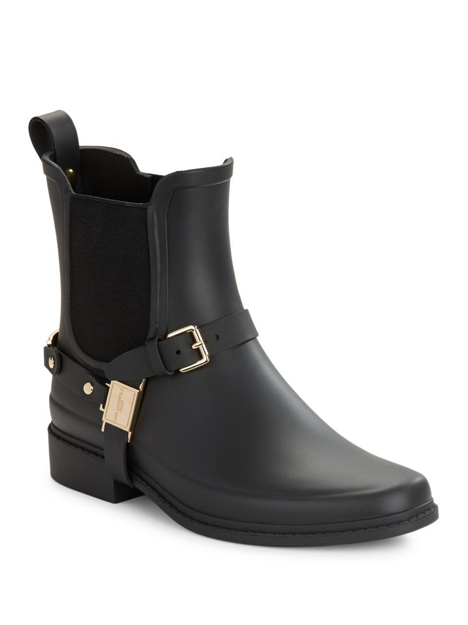 Karl Lagerfeld Lou Rain Boots In Black Lyst