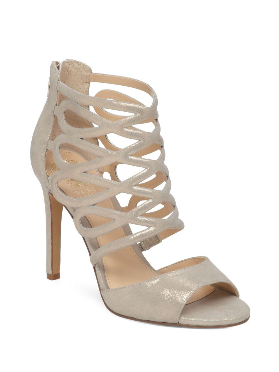 Lyst Vince Camuto Kirsi Leather Dress Sandals In Metallic