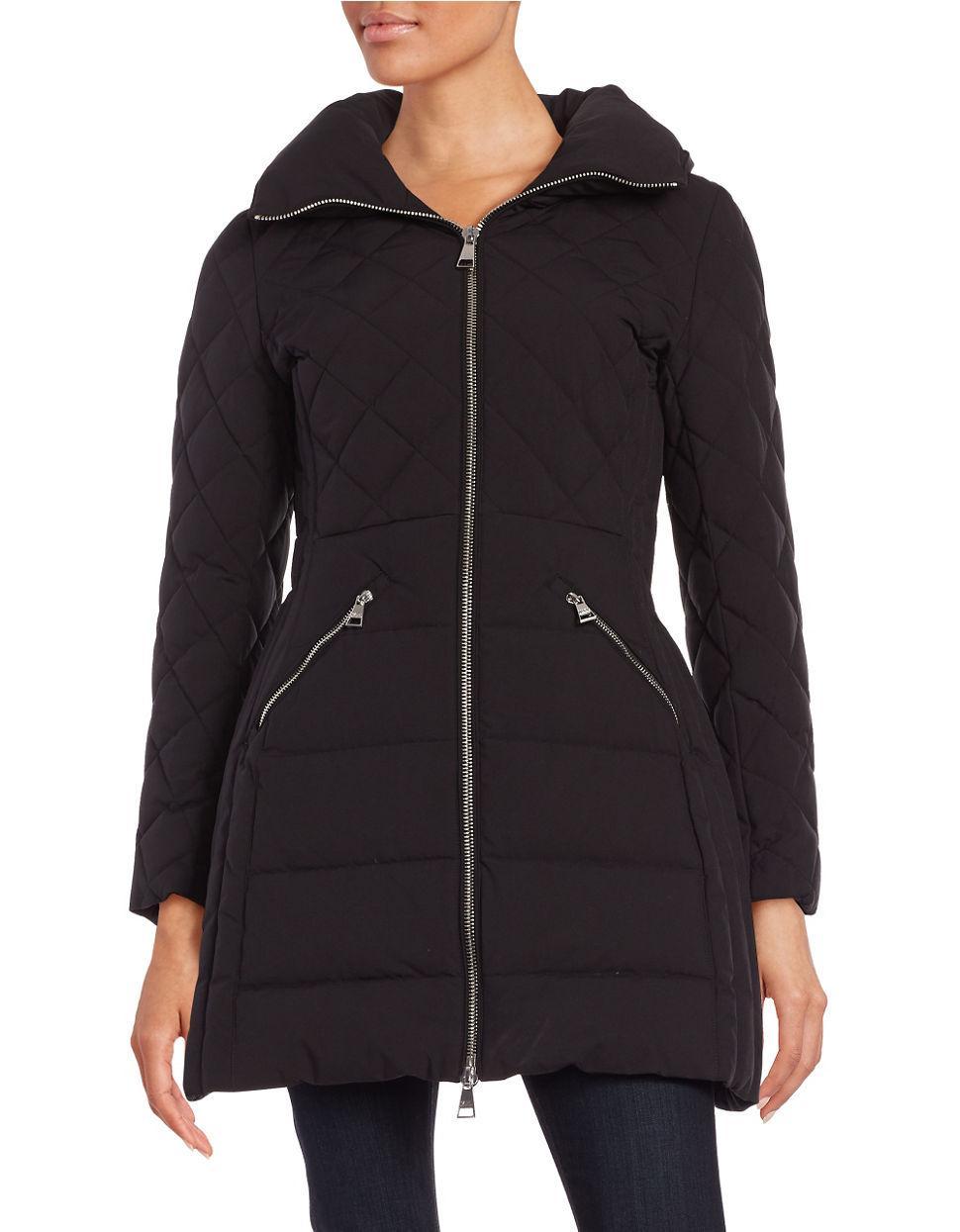 Karl Lagerfeld Puffer Down Walker Coat In Black Lyst