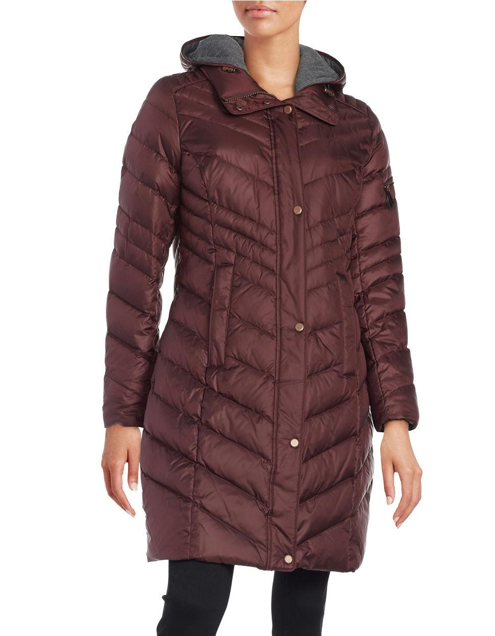 Marc New York Rayna Chevron Quilted Down Coat In Blue Lyst