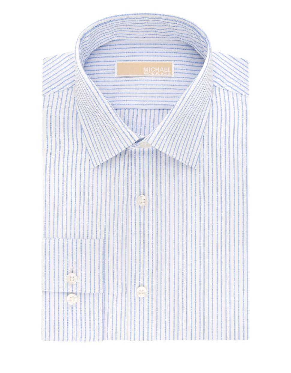 Michael Michael Kors Regular Fit Cotton Striped Dress