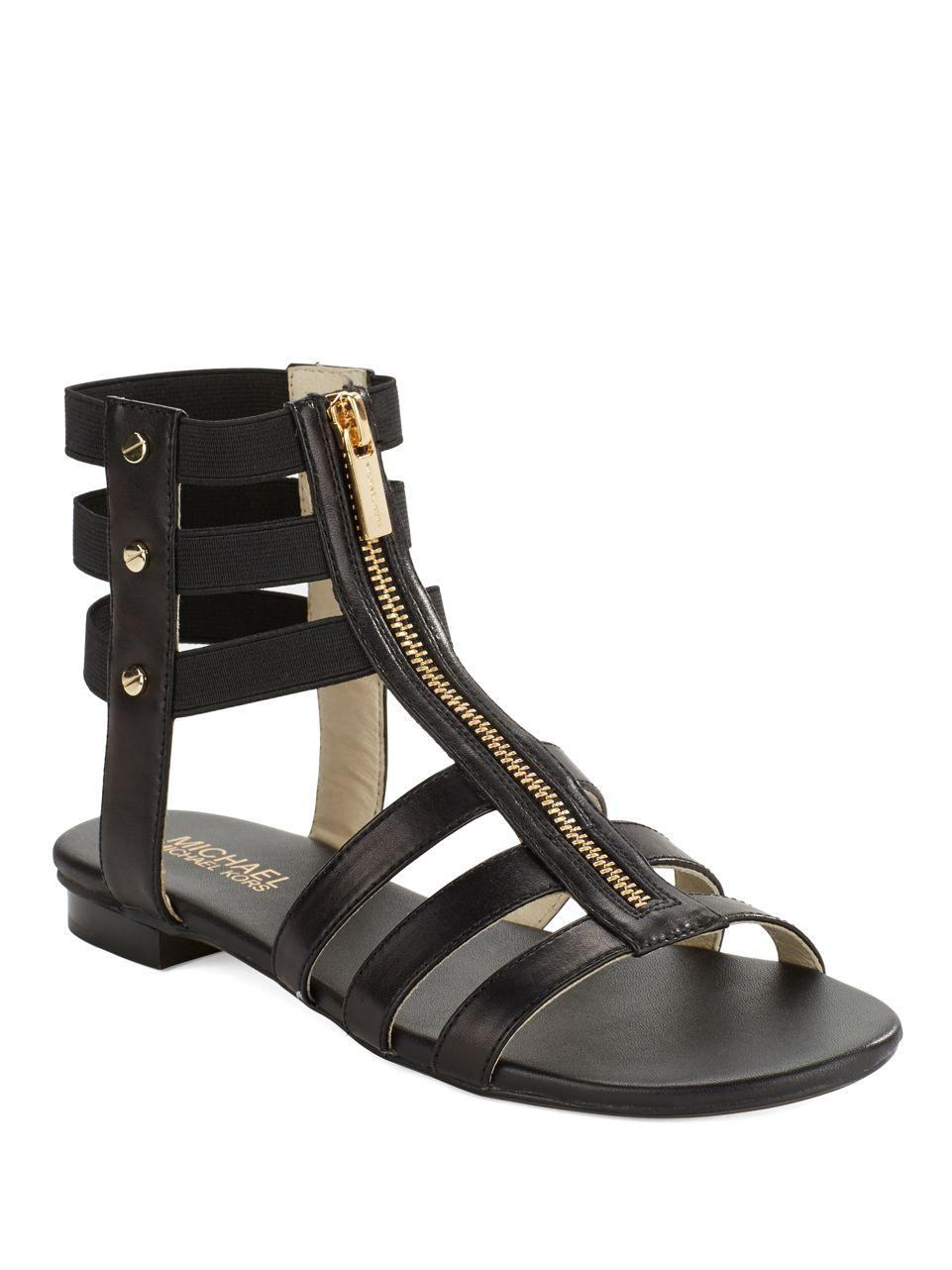 Lyst - Michael Michael Kors Codie Leather Gladiator ...