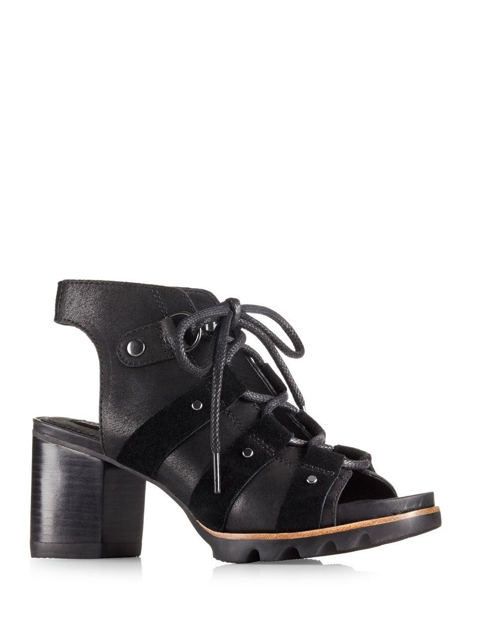 Lyst Sorel Addington Lace Up Sandals In Black