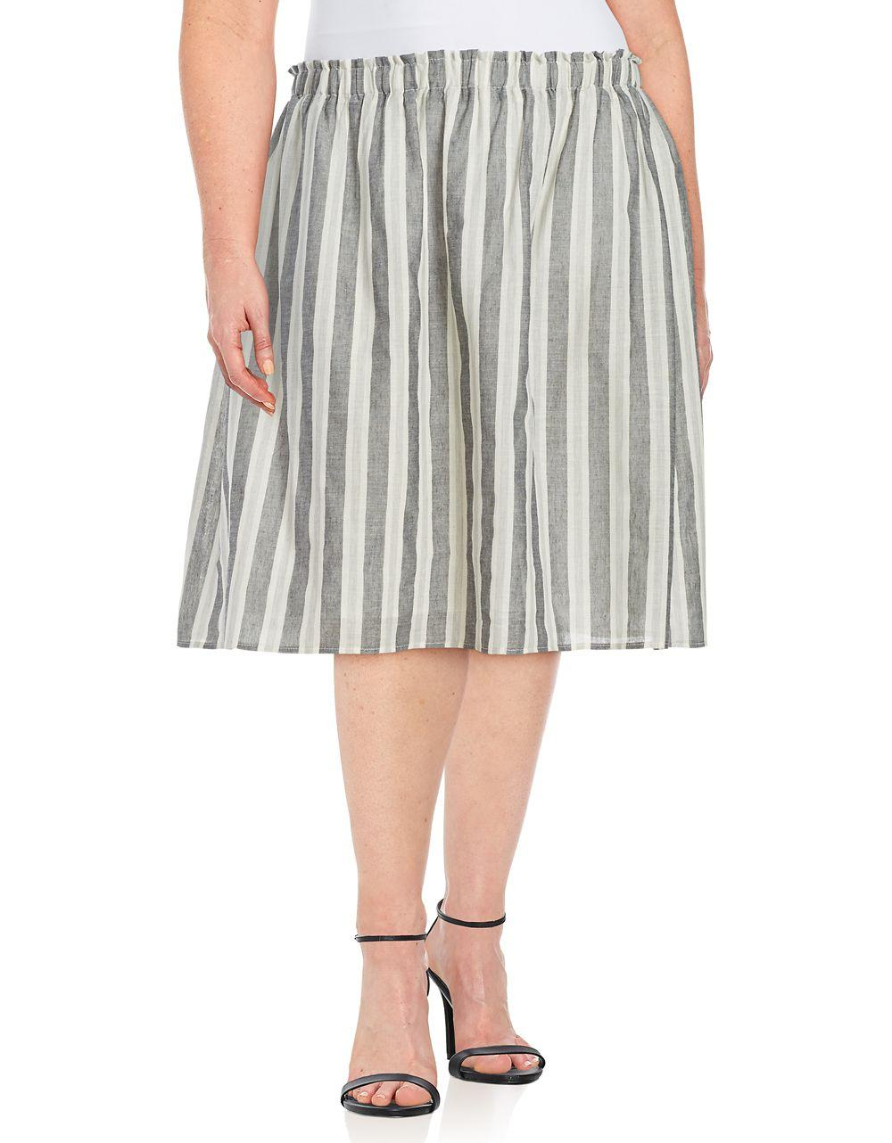 B collection by bobeau florence striped a line skirt in for B b maison florence