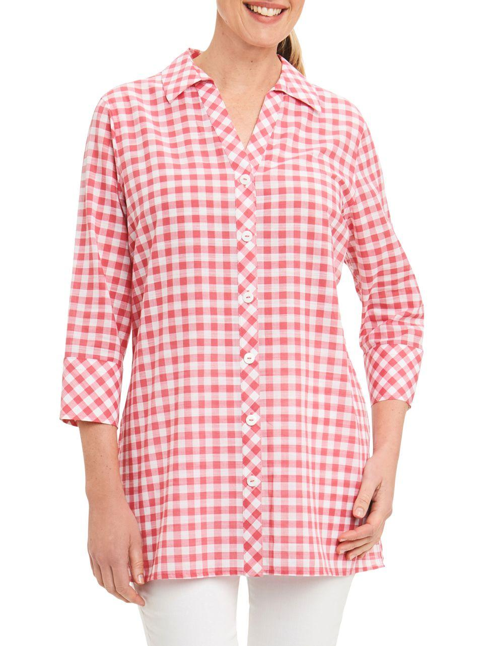 Lyst Foxcroft Cotton Check Shirt In Pink