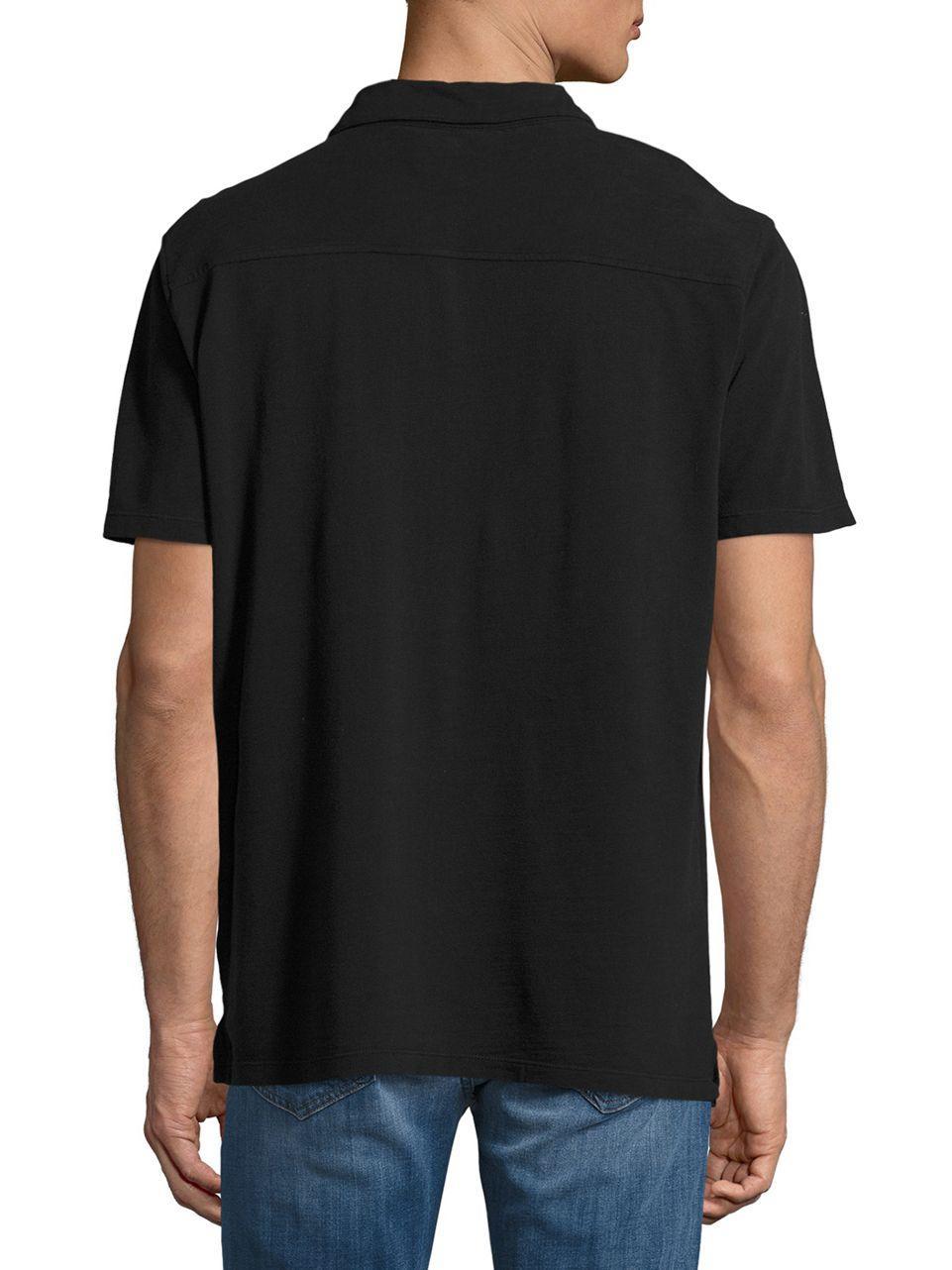 Lyst Lucky Brand Knit Sportshirt In Black For Men