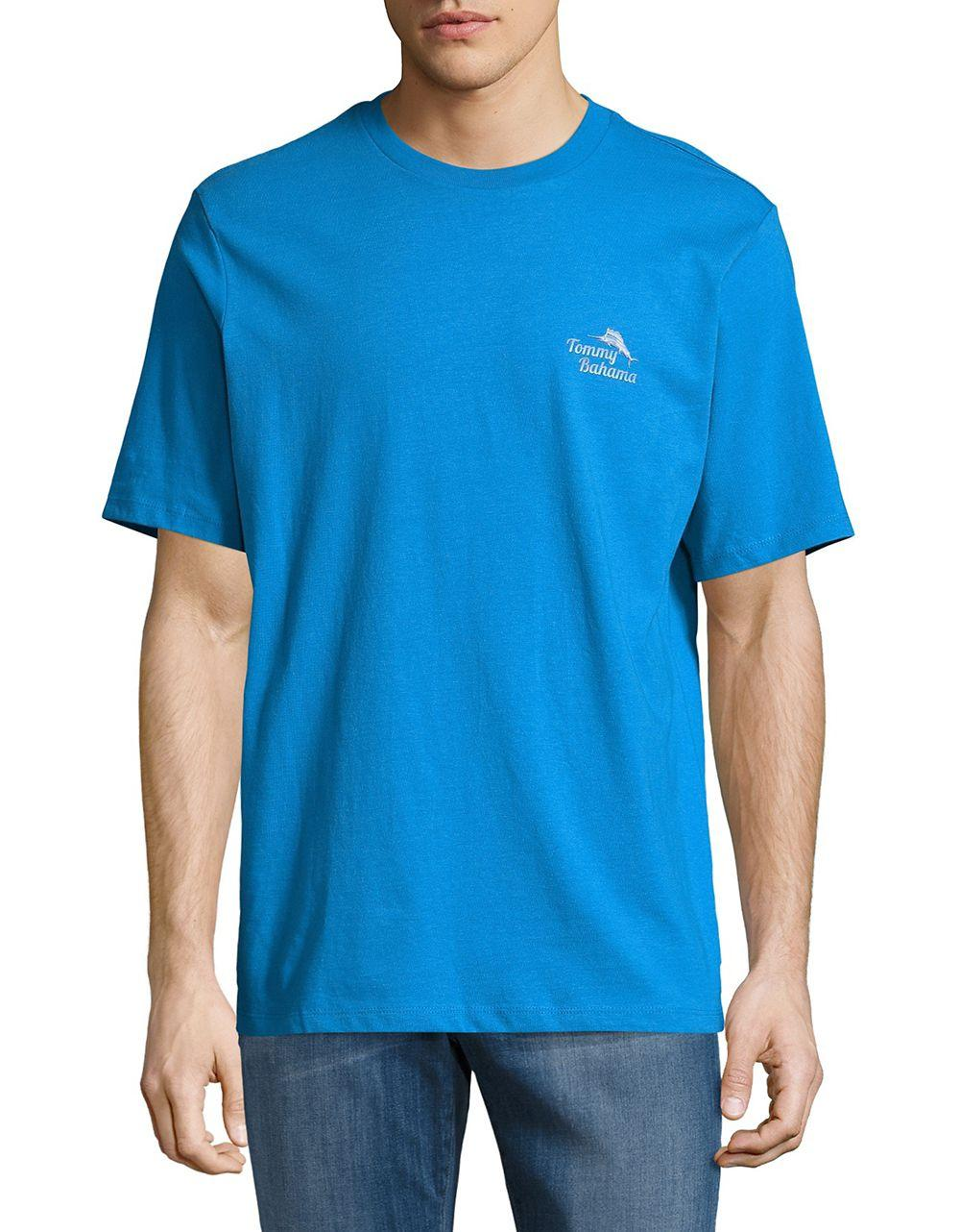 Lyst Tommy Bahama Printed Cotton Tee In Blue For Men
