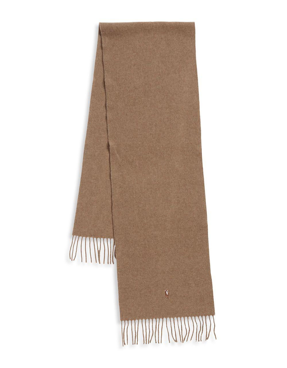 6050a7ce7c9 Lyst - Polo Ralph Lauren Signature Fringe Wool Scarf in Brown for Men