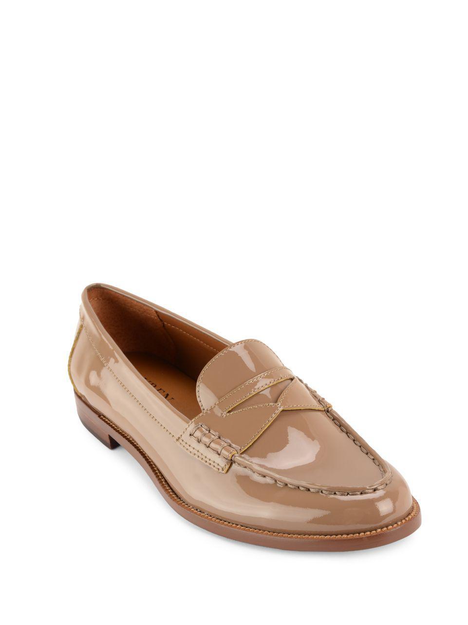 d53c209d620 Lyst - Lauren By Ralph Lauren Barrett Patent Leather Loafers in Brown