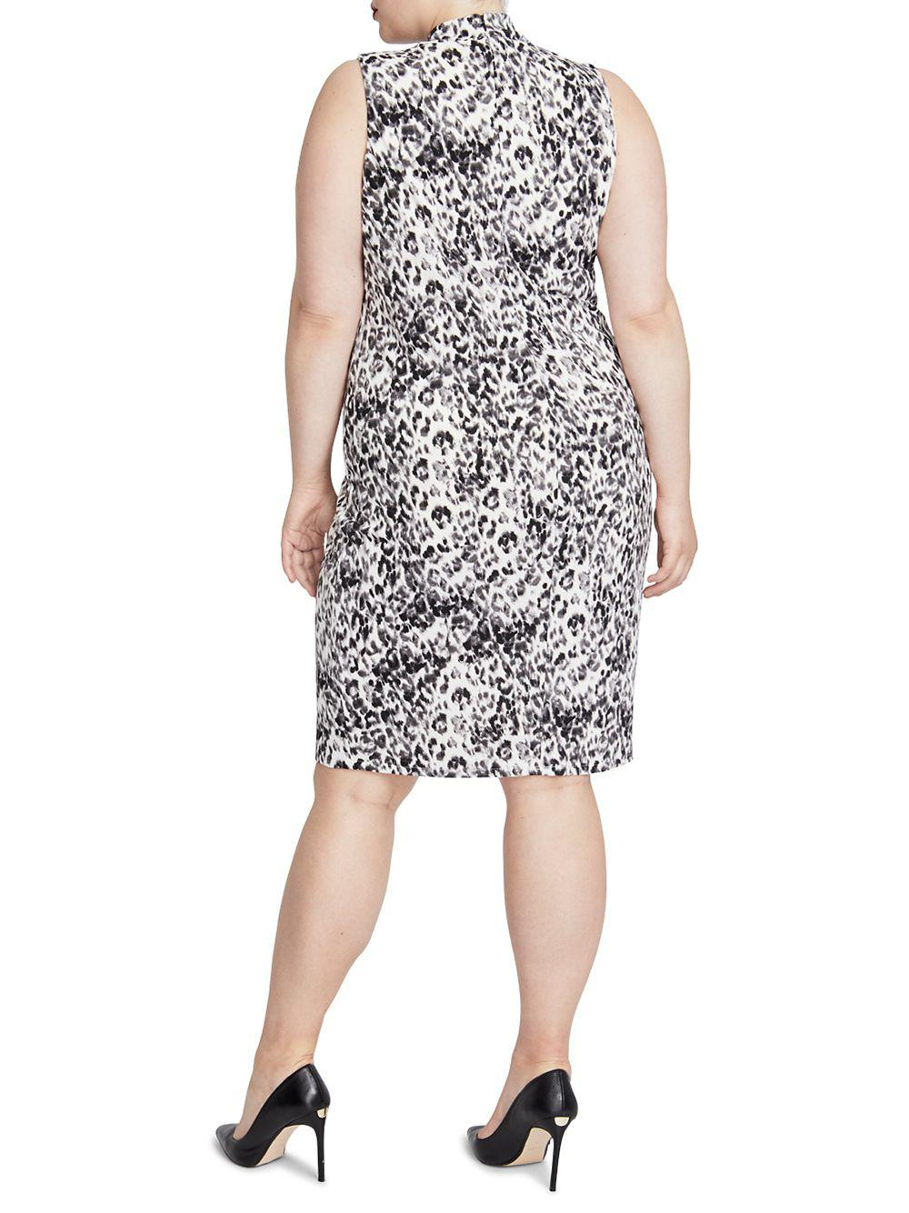 8694dc15ba7d RACHEL Rachel Roy - Black Plus Axel Leopard Print Knot-neck Dress - Lyst.  View fullscreen