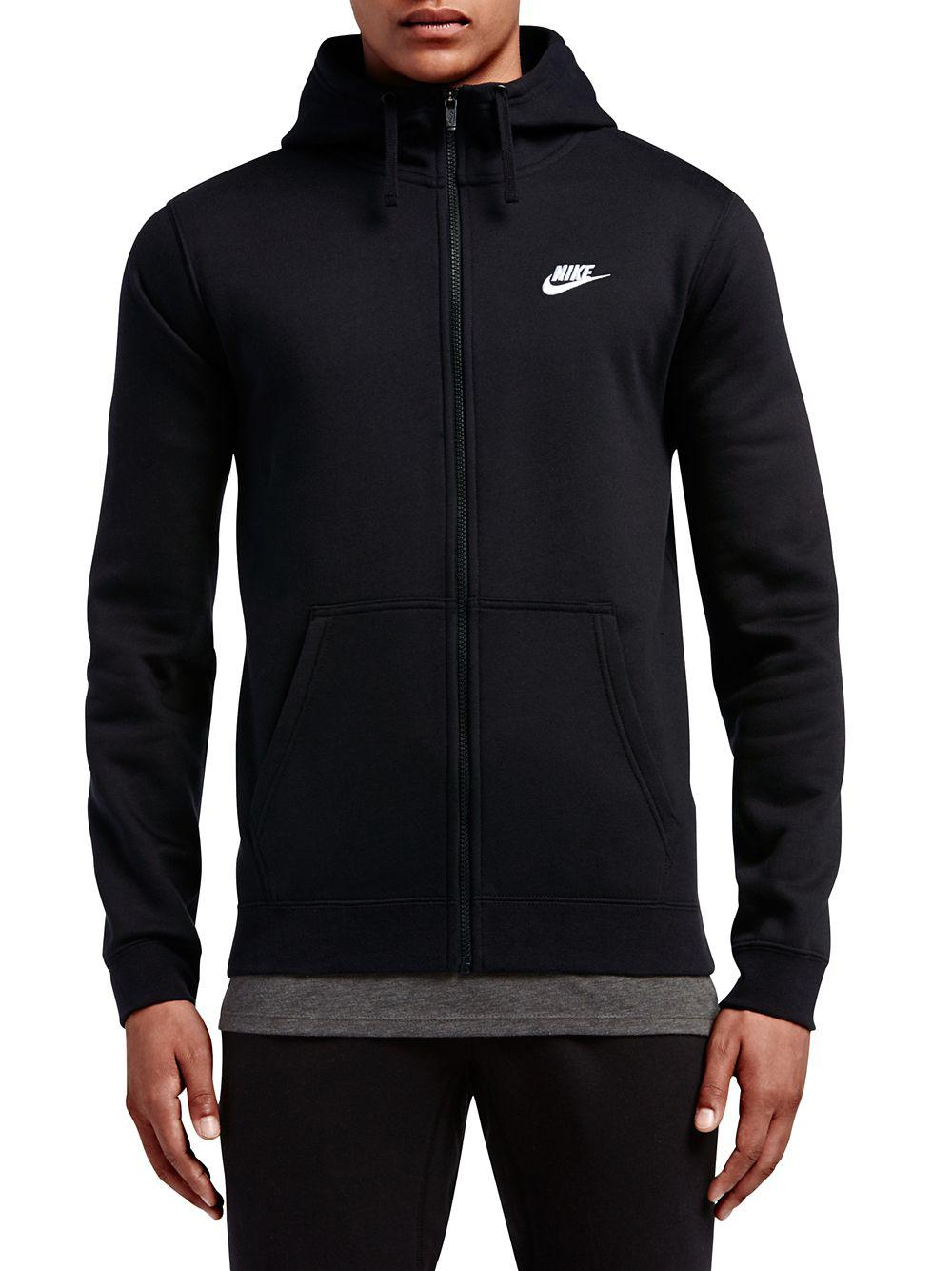 c88deb5989 Nike Embroidered Logo Hoodie in Black for Men - Lyst