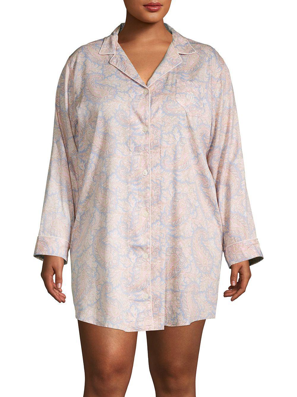 f29d5d5f86e Lauren by Ralph Lauren. Women s Plus Printed Sleepshirt