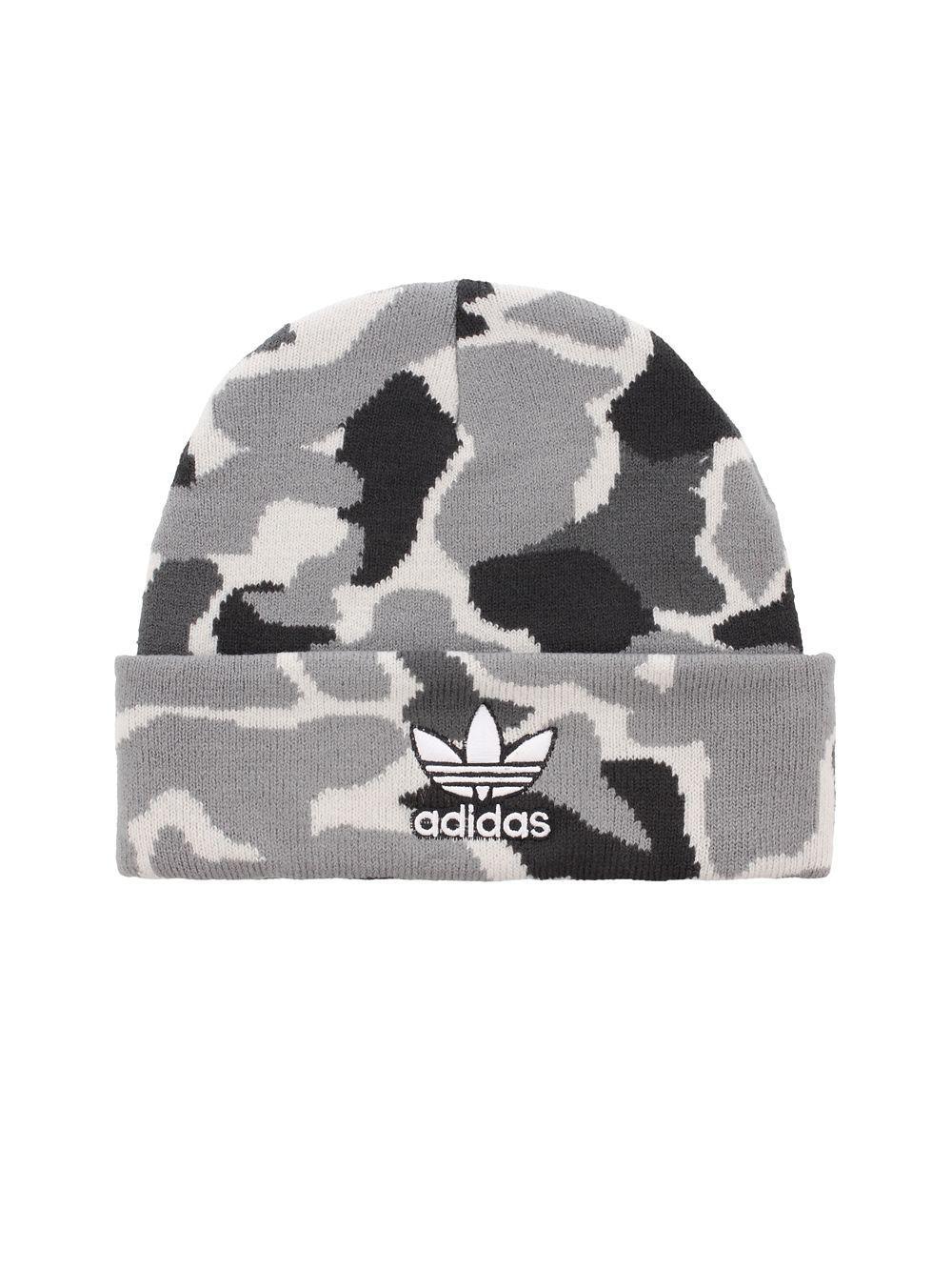 6a3e1fa9337 Adidas - Gray Originals Trefoil Plus Beanie for Men - Lyst. View fullscreen
