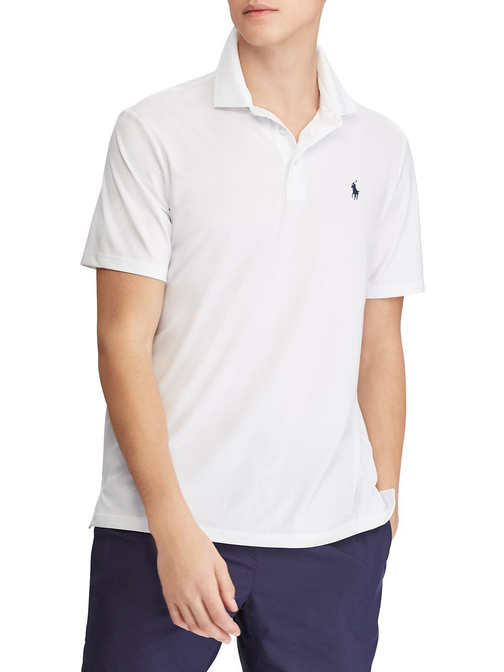 92186c1a15b Polo Ralph Lauren Active-fit Performance Polo in White for Men - Lyst