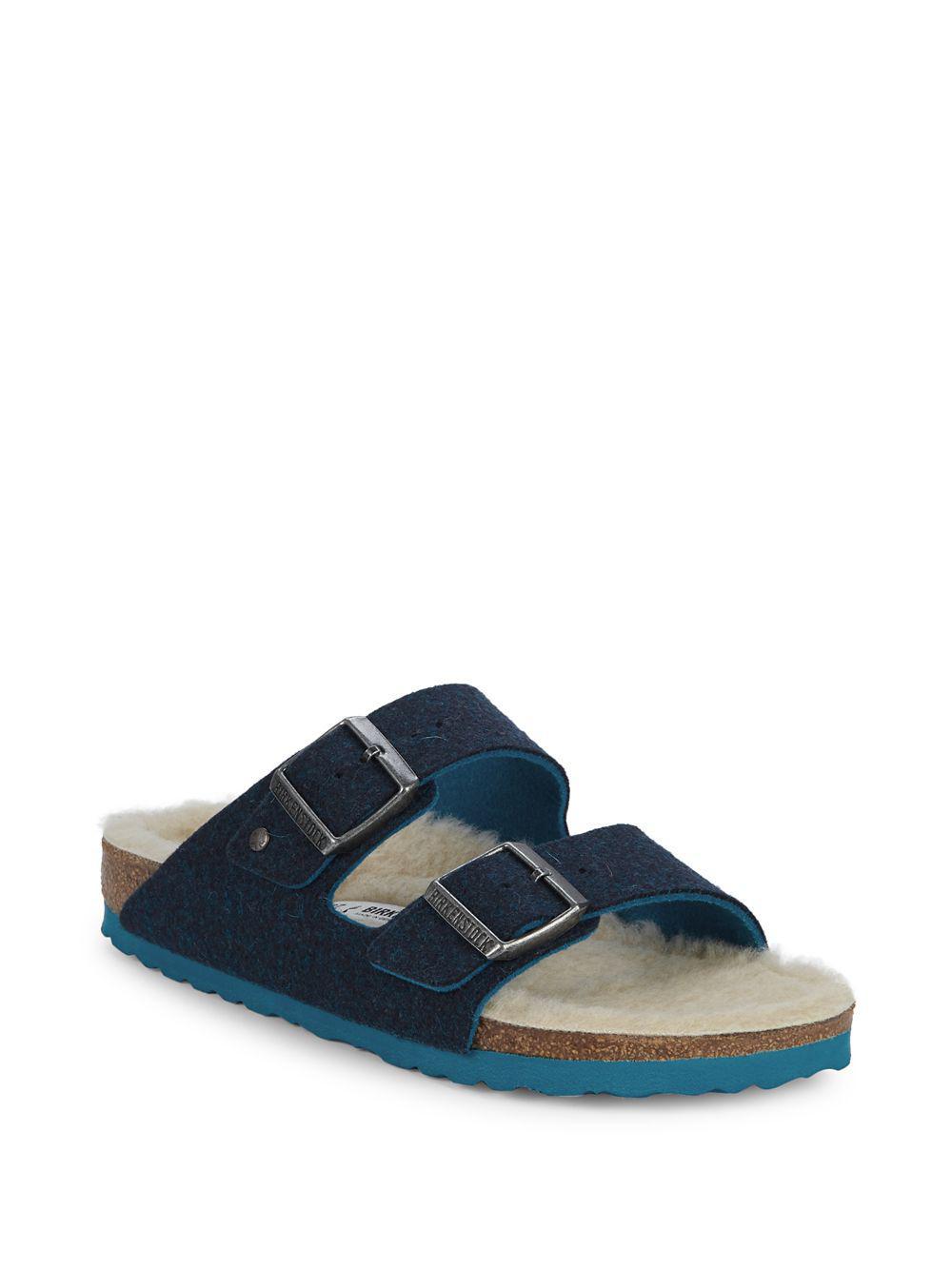 89d5f6a5a78a Birkenstock Arizona Wool (doubleface Blue) Shoes in Blue - Lyst
