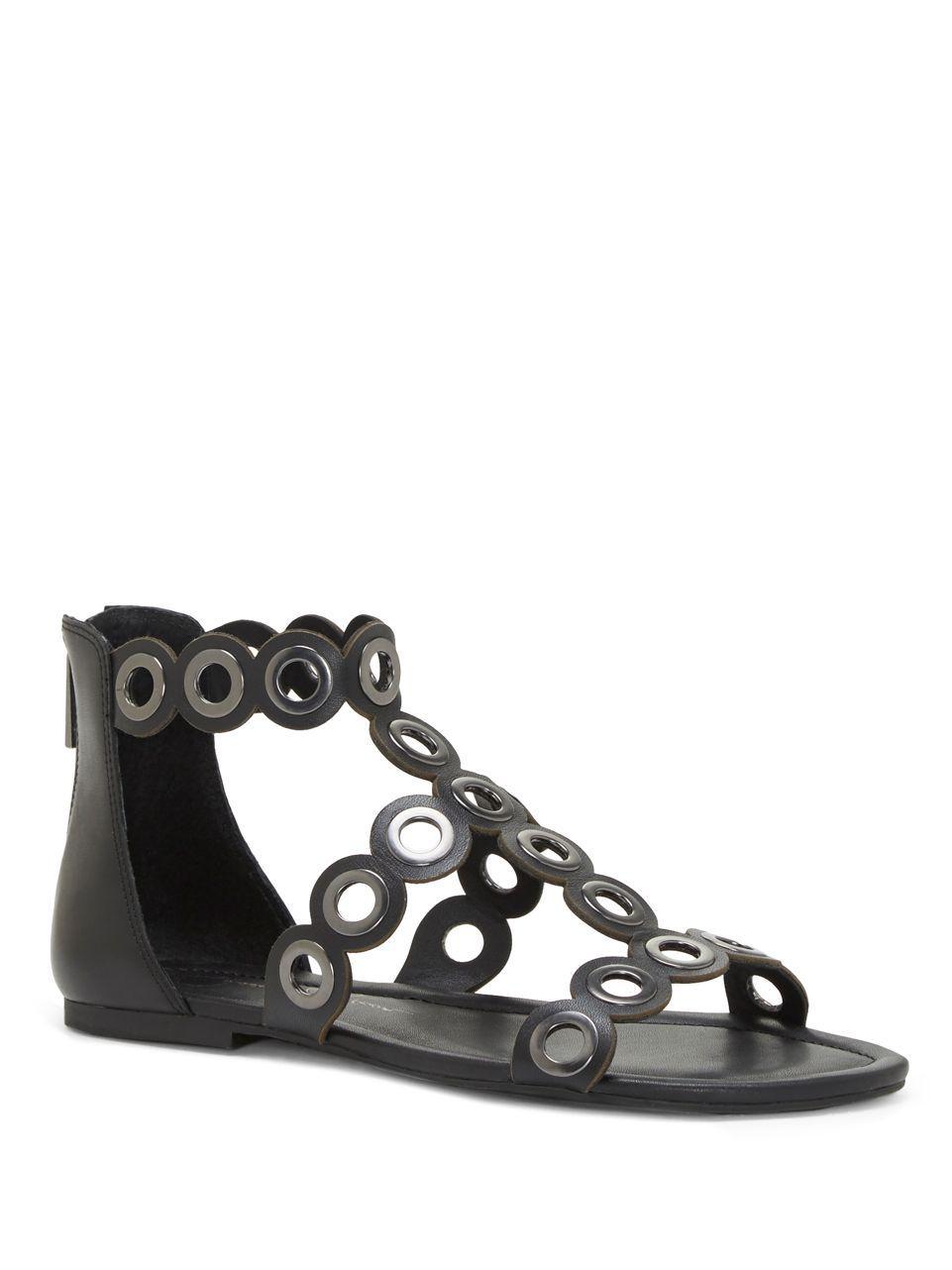2bce1d55c50 Lyst - Jessica Simpson Korva Leather Sandals in Black