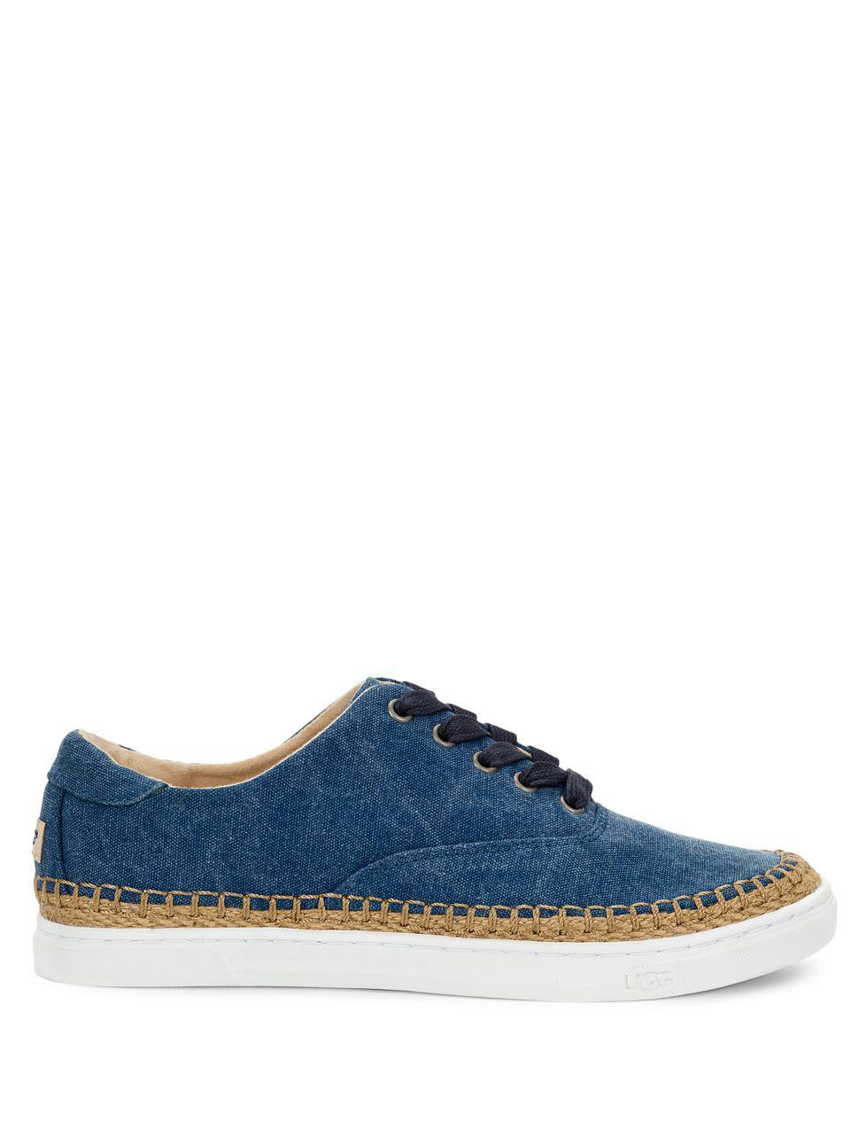 40d27ed6ecc Lyst - UGG Eyan Ii Canvas Sneakers in Blue